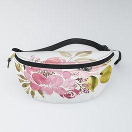 Watercolor Flowers Fanny Pack