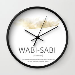 Wabi- sabi modern golden watercolor Wall Clock