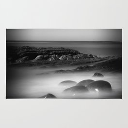 Another Dimension geological formations Bowling Ball Beach Rug