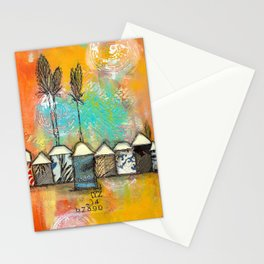 one fine day at the bach Stationery Cards