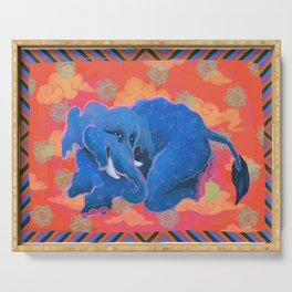 Colourful Animal Elephant Decoration Patterns Serving Tray
