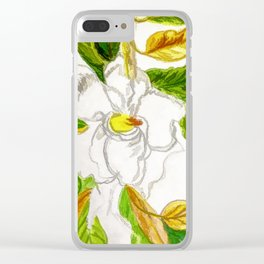 The Vivian Magnolia Blossom Clear iPhone Case