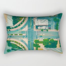 The City From Above (Color) Rectangular Pillow