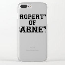 Property of BARNEY Clear iPhone Case