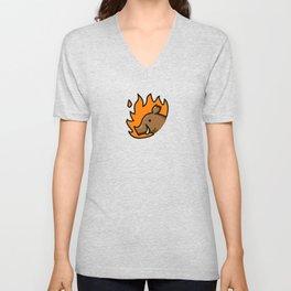 fire/boar Unisex V-Neck