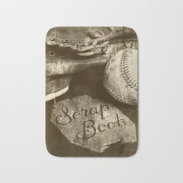 Vintage Baseball Memories 10 Bath Mat