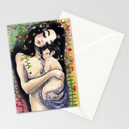 Klimt4: Mother and child Stationery Cards
