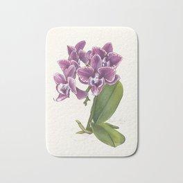 Purple Phalaenopsis Orchid Bath Mat