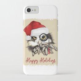 Christmas owl iPhone Case