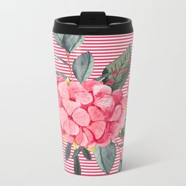 Pretty in Pink Metal Travel Mug