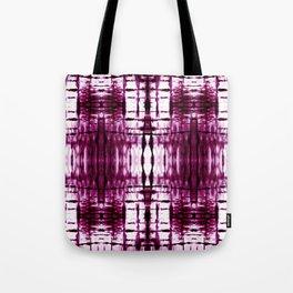 Black Cherry Plaid Shibori Tote Bag