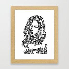 Kanji Calligraphy Art :woman's face #31 Framed Art Print