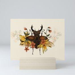 Blooming Beetle Mini Art Print
