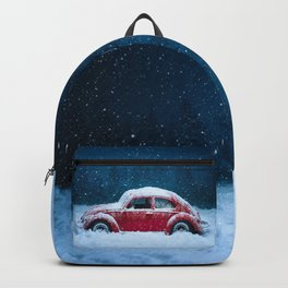 Winter Toy Car Backpack