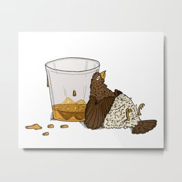 Thirsty Grouse - Colored with White Background Metal Print