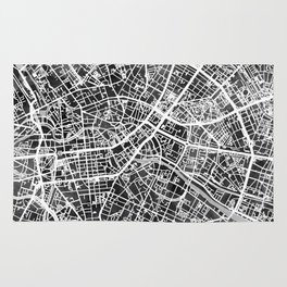 Berlin Germany City Map Rug