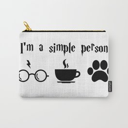 I'm a simple person, coffee lover, dog lover, HarryP lover Carry-All Pouch