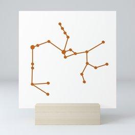 Sagittarius (Bronze & White) Mini Art Print