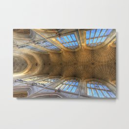 Royal Bath Abbey Ceiling Metal Print