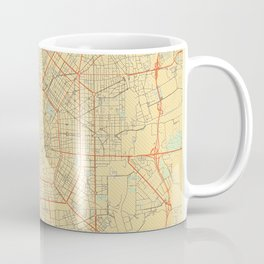 Milan Map Retro Coffee Mug