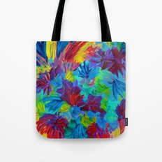 TUTTI FRUTTI - Fruit Punch Floral Bouquet Flowers Bright Bold Colorful Painting Romantic Rainbow Tote Bag