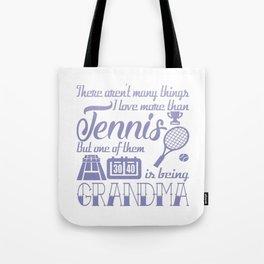 Tennis Grandma Tote Bag