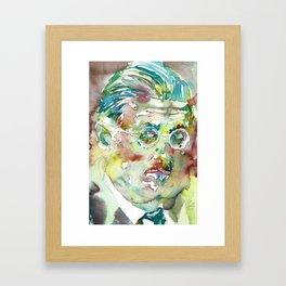 JAMES JOYCE - watercolor portrait.4 Framed Art Print