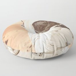 Astronaut Cat on Mars Floor Pillow