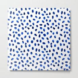 Seeing Blue Spots Metal Print