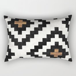 Urban Tribal Pattern No.16 - Aztec - Concrete and Wood Rectangular Pillow