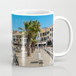 Mahon harbor and paseo maritimo - Mahon, Menorca, Balearic islands, Spain Coffee Mug
