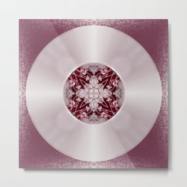 Vinyl Record Illusion in Pink Metal Print