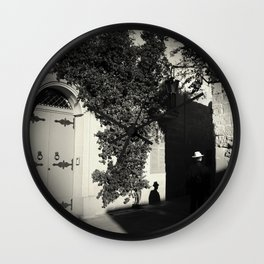 ... a man and his shadow Wall Clock