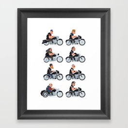 Sons of anarchy crew Framed Art Print
