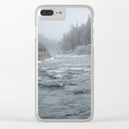 Winter On The Deschutes River Clear iPhone Case