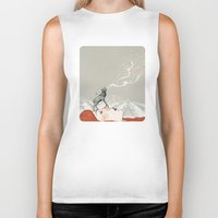 deer Biker Tanks featuring Deer Lady! by Sandra Dieckmann