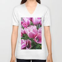 tulips V-neck T-shirts featuring tulips by Liudvika's Lens