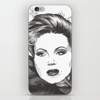 evil queen iPhone & iPod Skins featuring The Evil Queen by ShayMacMorran