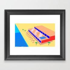 Riviera Hotel Framed Art Print