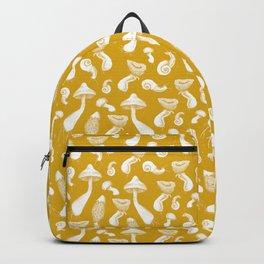 Ink Mushrooms - mustard Backpack
