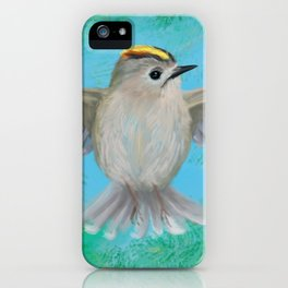 Goldcrest in top iPhone Case