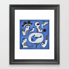 CHECKERED CHICKS Framed Art Print