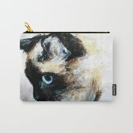 Siamese Cat Acrylic Painting Carry-All Pouch