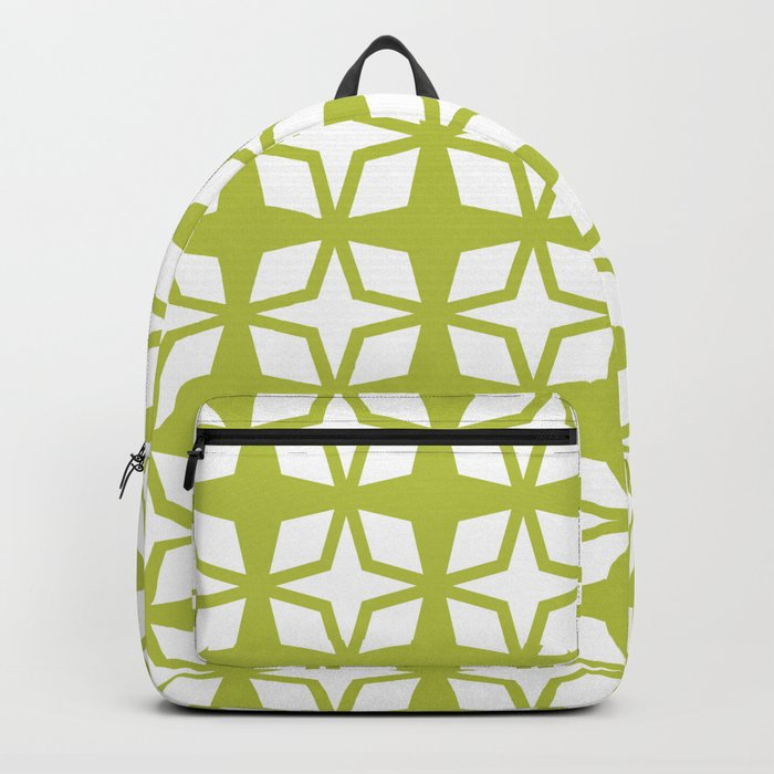Mid Century Modern Star Pattern Chartreuse 552 Backpack