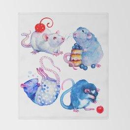 Sweet Rats Throw Blanket