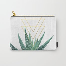 Succulent geometric Carry-All Pouch