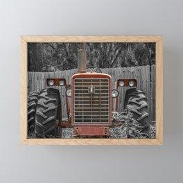 International 656 Farmall Red Tractor 60's Farming  Framed Mini Art Print