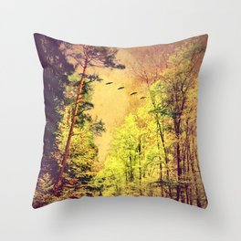 Ancient forrest Throw Pillow