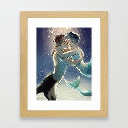 Mermen boyfriends Framed Art Print