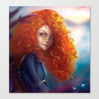 merida Canvas Prints featuring Merida by ChrySsV
